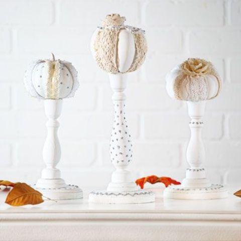 stile decorate zucche e trine