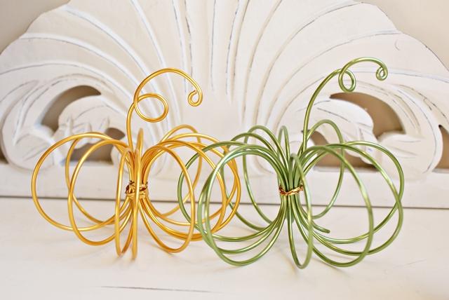 stile materiale zucche fildiferro vedi tutorial