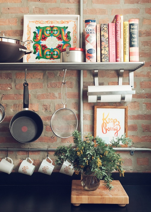 stuccatura cucina stylish-kitchens-with-brick-walls-and-ceilings-4