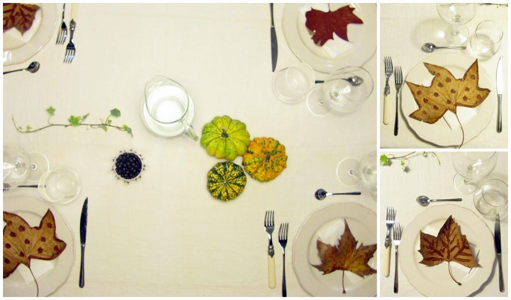 tavola cena-zucca