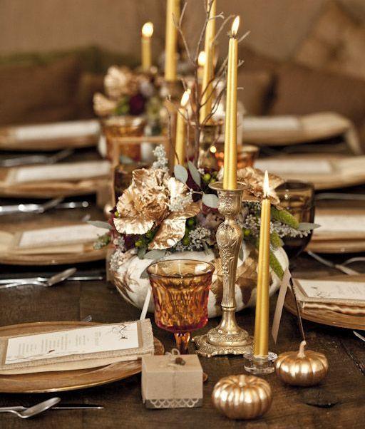 tavola zucche oro