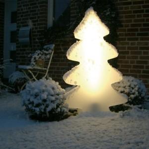 .amazon 242.86 di LUMENIO Maxi albero di Natale illuminato, colore Bianco splendente