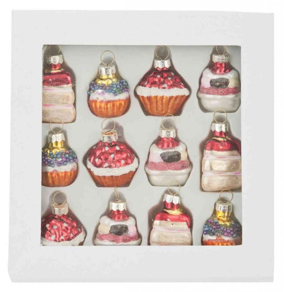 .amazon Clayre & Eef - Pendente decorativo - Palla di natale - Muffins - A colori - Set di 12 36.90 per i golosi
