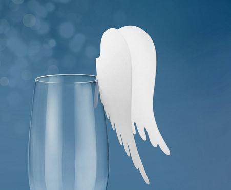 .amazon decoro dettagli caffè 10 segnaposto bicchiere ali d'angelo www.partylandia.eu 3.5