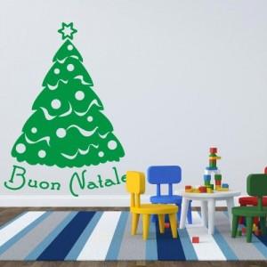 .amazon di adesiviamo 19.90 Albero Buona Natale - Adesivo da parete Vinyl Wall Stickers Decals