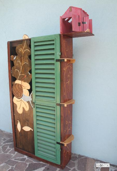 craetivo armadio realizzato con vecchie persiane pallet epedane di recupero su redivita.it
