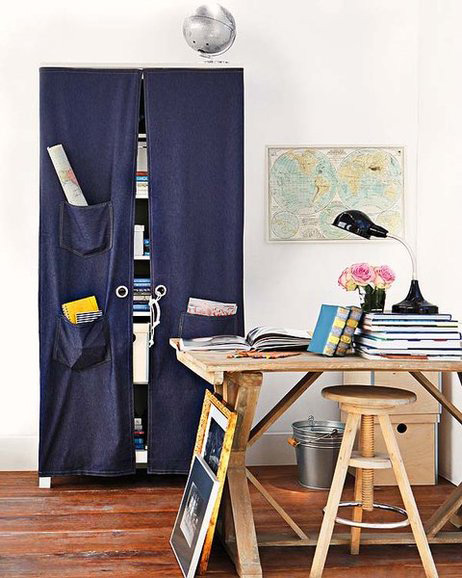 creativo diy-home-office-organization-ideas-hidden-storage-curtain-pockets