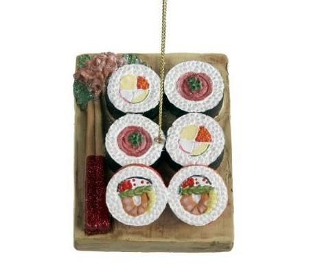 design palline di natale sushi