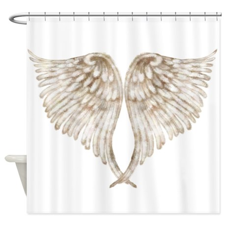 golden_angel_shower_curtain