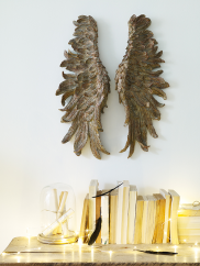 parete decoro complementi Gilded Angel Wings 150sterline coxandcox.uk