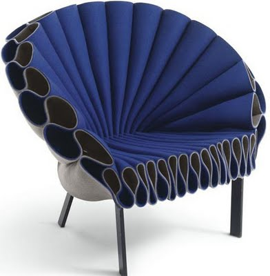 13PEACOCK chair di CAPPELLINI in lana cotta