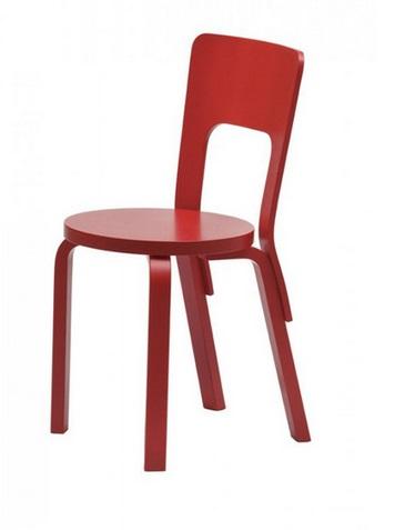 Chair 66 di Aalvar Aalto per Artek