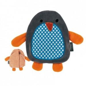 Cuscino riscaldante imbottito con semi di colza a forma di Pinguino riscaldabile in forno o su termosifone per raffreddori  mal di schiena dolori reumatici intermediaitalia