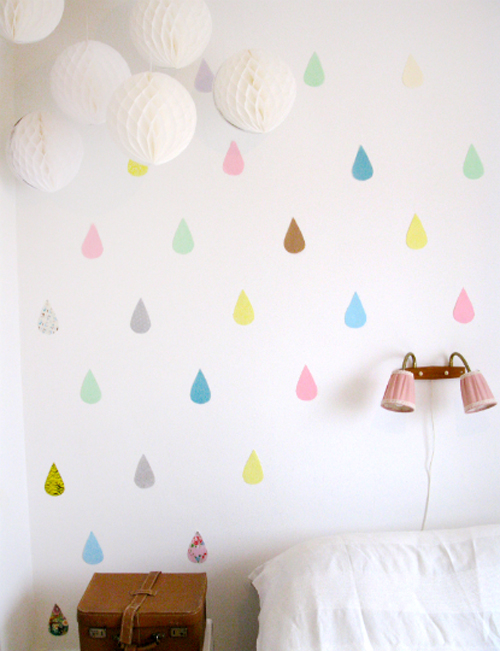 Rai Rai blog Pastel tear drop wall decor