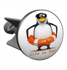 .amazon 18.90 di Plopp Tappo per il Lavabo Pinguino Life is Fun!, Tappo per Lavandino, Lavello