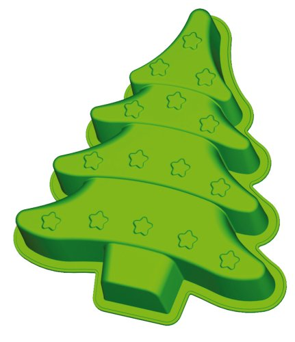 .amazon Lurch Flexi®Light 16121 Stampo per forno in silicone a forma di albero di Natale, colore Verde 7.99