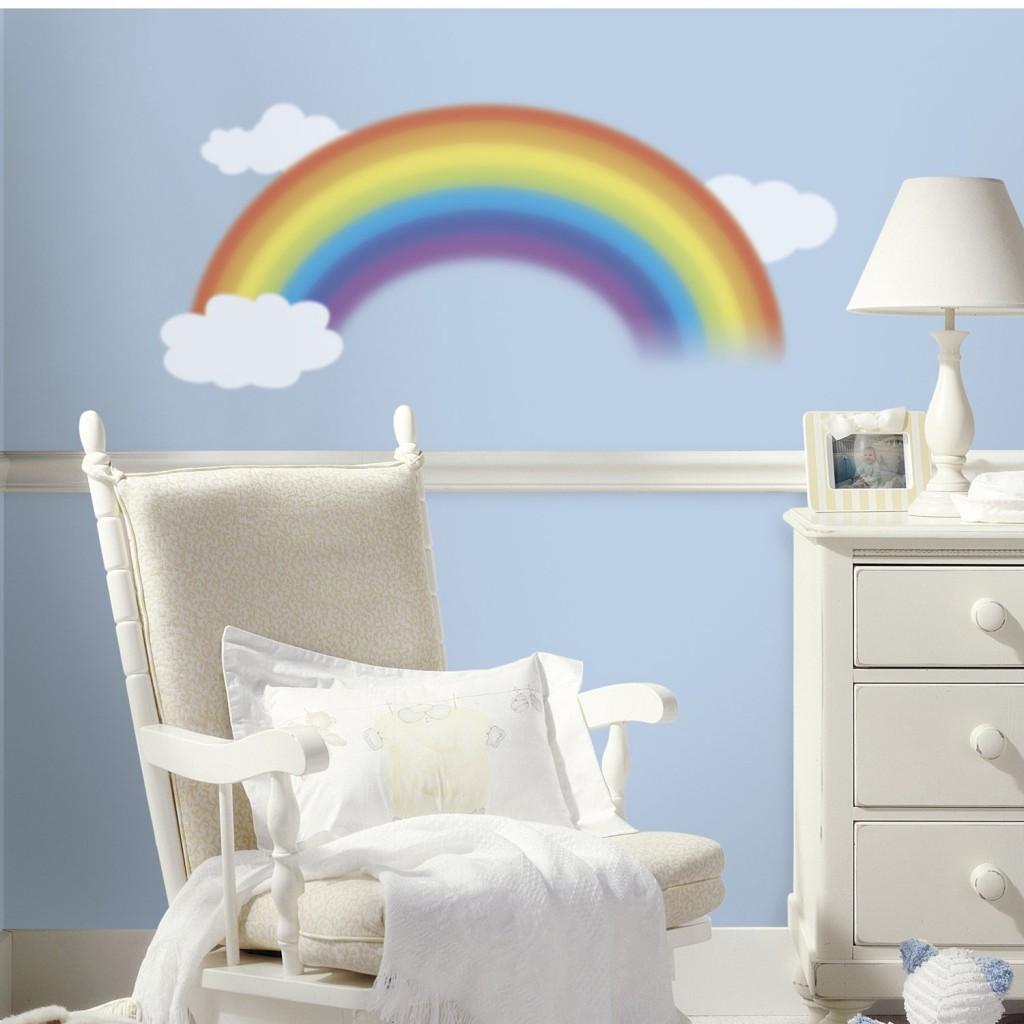 .amazon RoomMates RMK1629GM - Adesivi decorativi per cameretta, motivo arcobaleno e nuvole 26.99