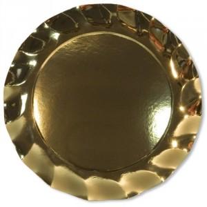 .amazon piatto oro cartone