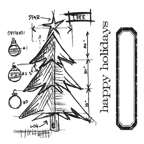 .amazon stickers Sizzix - Framelits, set da 6 fustelle decorative con albero di natale stilizzato, design di Tim Holtz 22.63