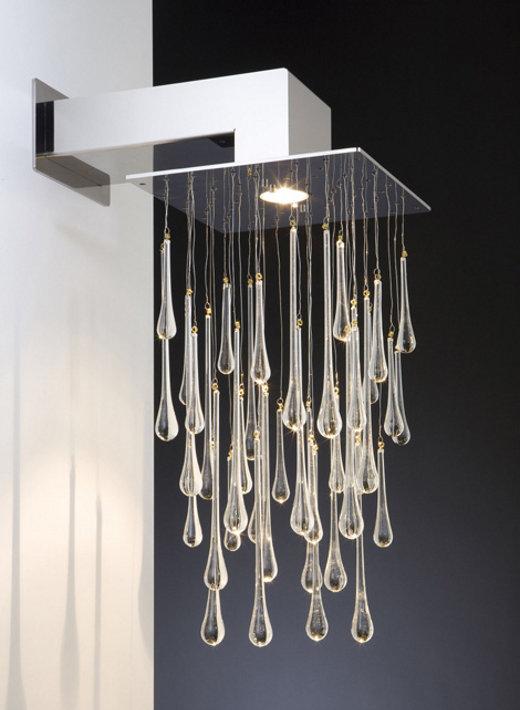 doccia lampada Progettato da Jos Muller in acciaio inox