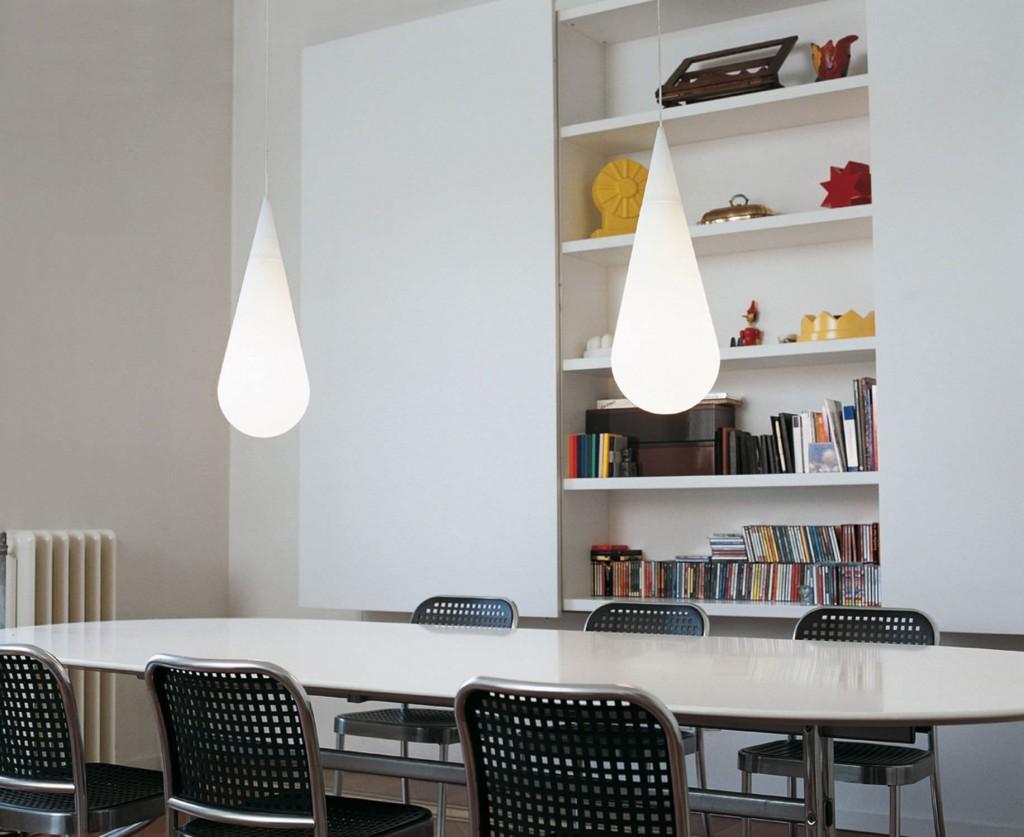 lampada-sospensione vetro-soffiataGOCCIA H2 by Andrea Branzi