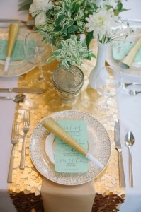 super glam in gold-and-green