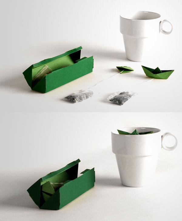 BUSTINA Il filtro da tè con l'origami galleggiante