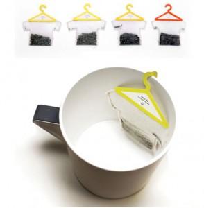 BUSTINA Inusuali bustine da tè dalla forma a maglietta, questa l'invenzione di Soon Mo Kang.
