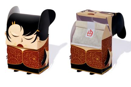 BUSTINA la Chinese Tea Box è un progetto di Carlo Giovani grafico e illustratore brasiliano