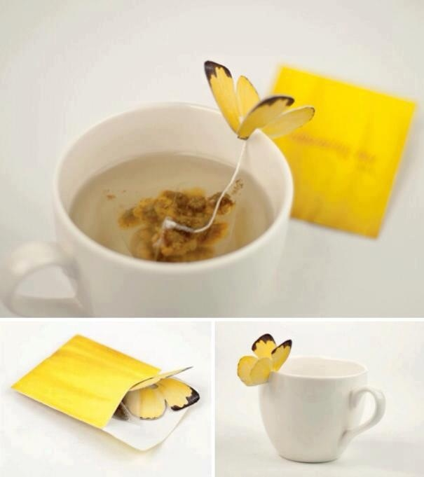 Bustina del te con farfalla Blooming Tea by Yena Lee oggetti design