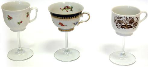 TAZZINA INGLESE Il designer islandese Hrafnkell Birgisson ha mixato i due concetti del calice da vino e della tazza da tè
