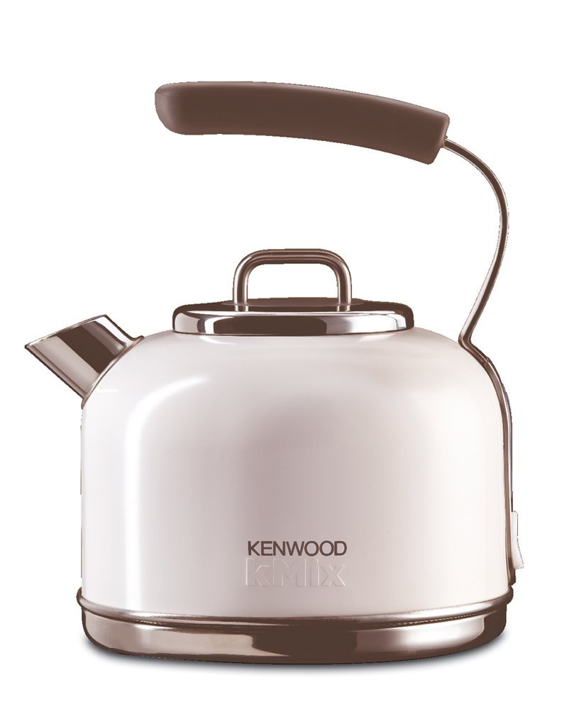 .amazon 79.99 Kenwood Kmix SKM 030 Bollitore design retro con corpo in metallo, Sure Grip, 2200 W, colore Cocco