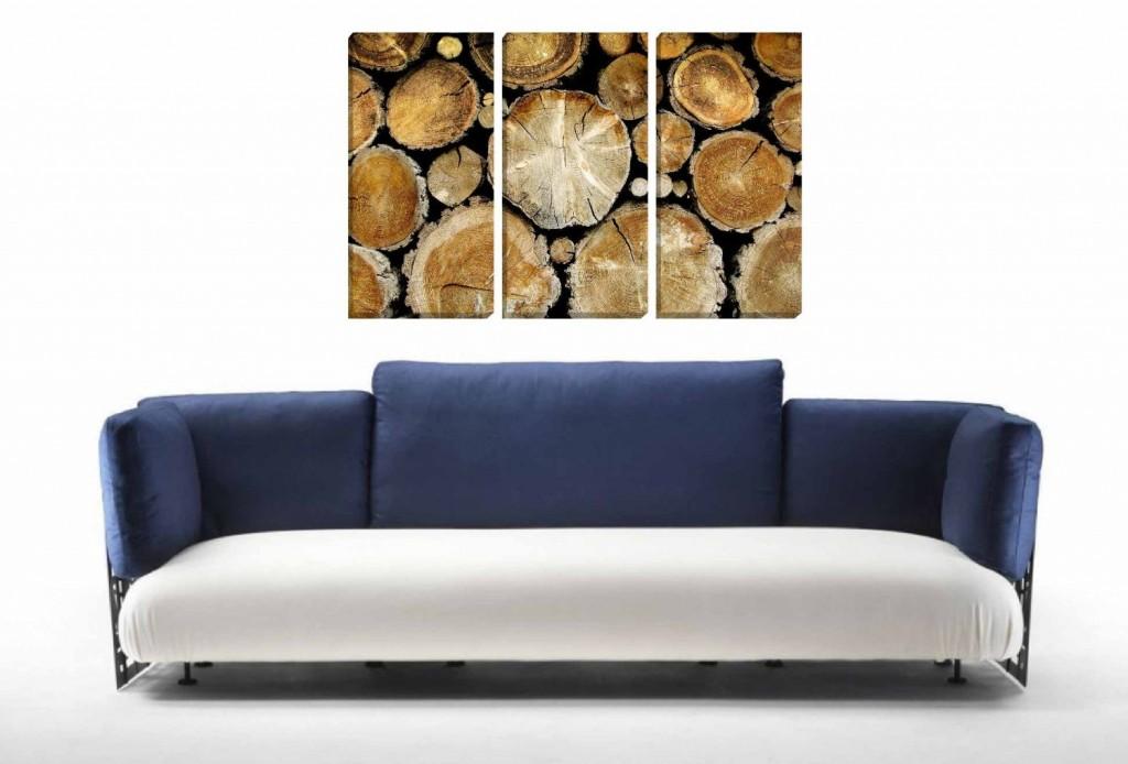 .amazon Quadro 3 pezzi - Legna di Bosco di ikona design 69.90