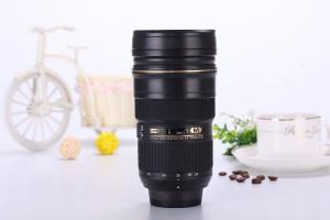 .amazon di I AM MUG® 226228-328 Pulsante Tazza a forma di obiettivo di macchina fotografica Tazza termica da viaggio - design Obiettivo