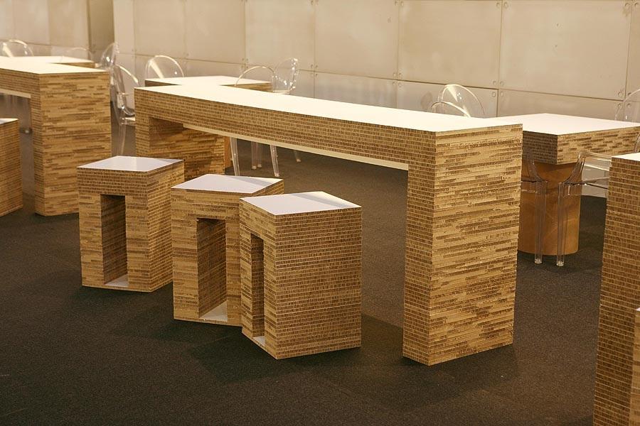 Realizzare desk e banconi creativi architettura e design - Mobili in cartone pressato ...