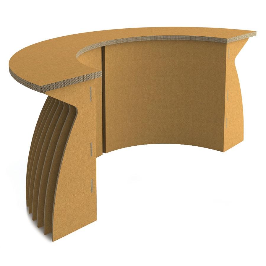 cartone comodo desk per accogliere i clienti all'interno di un ufficio o per creare un punto informativo. di semprepronte