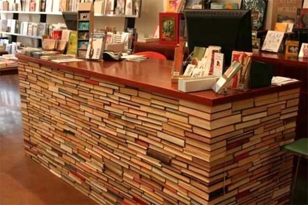 costruire libri bancone