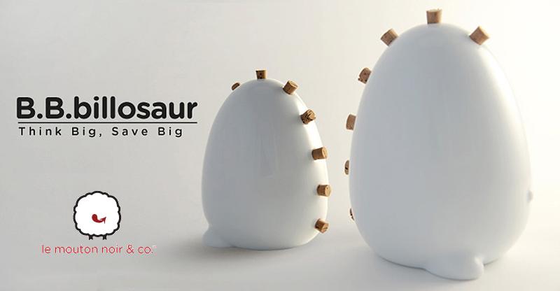 design BBbillosaur salvadanaio in ceramica