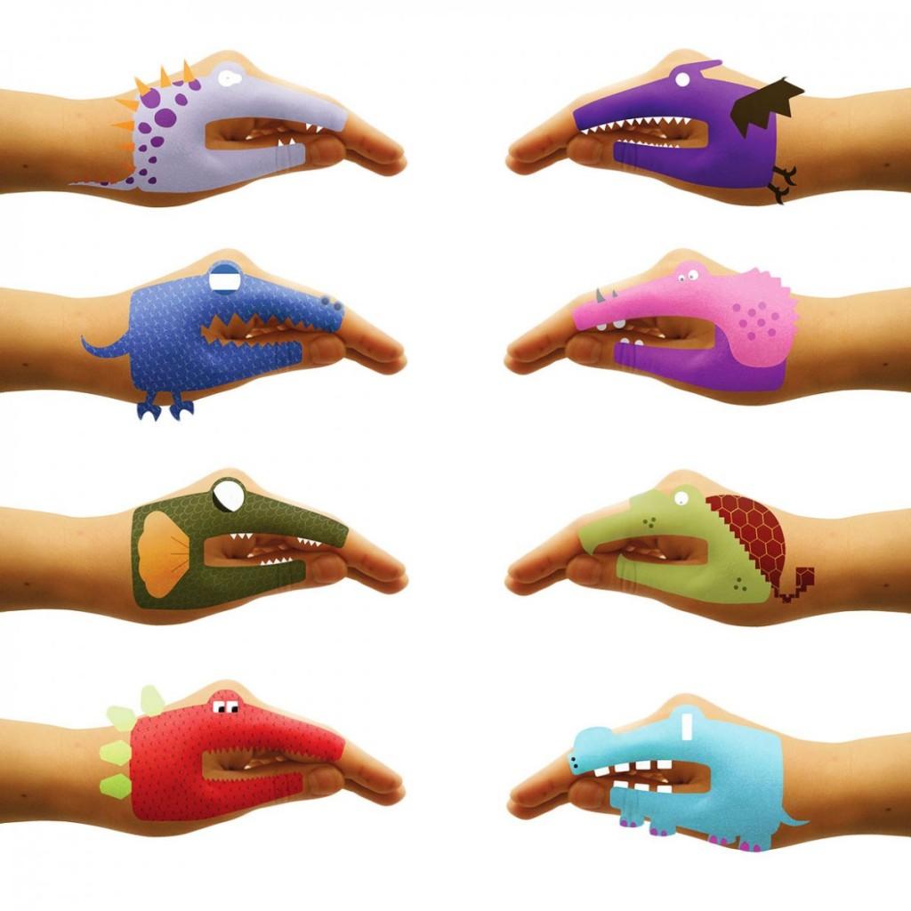 immagine Tatuaggio temporaneo Dino Hands
