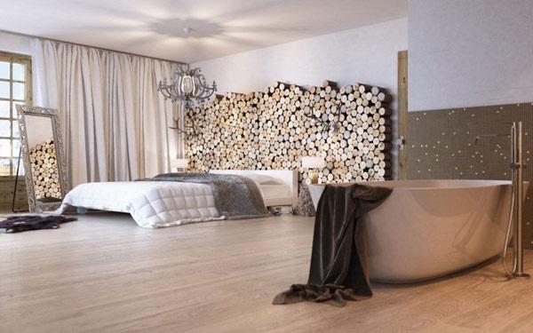 Pareti Rivestite Di Legno : Arredare con le cataste di legna architettura e design a roma
