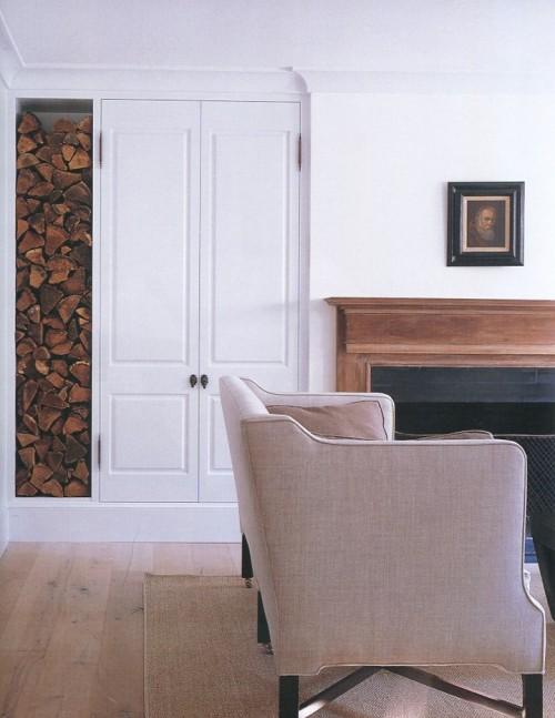 parete nicchia legna porta
