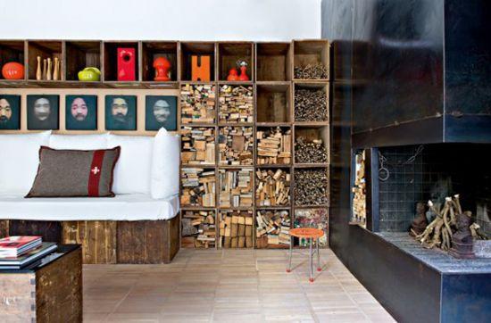 porta legna da ardere