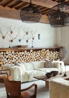 porta legna rustico