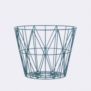 .amazon Ferm Living Wire Basket color petrolio