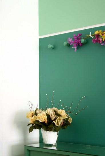ingresso sfumature-verdi petrolio -in-soggiorno