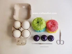 Design Portauova di Pasqua Decorazioni con Materiali di Riciclo e Crochet-206