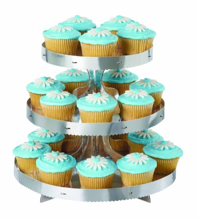 .amazon ALZATINA 24 CUPCAKES MUFFIN ARGENTO by WILTON