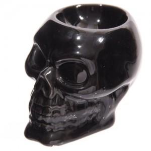 .amazon Puckator SK167 - Portauovo a forma di teschio, in ceramica,
