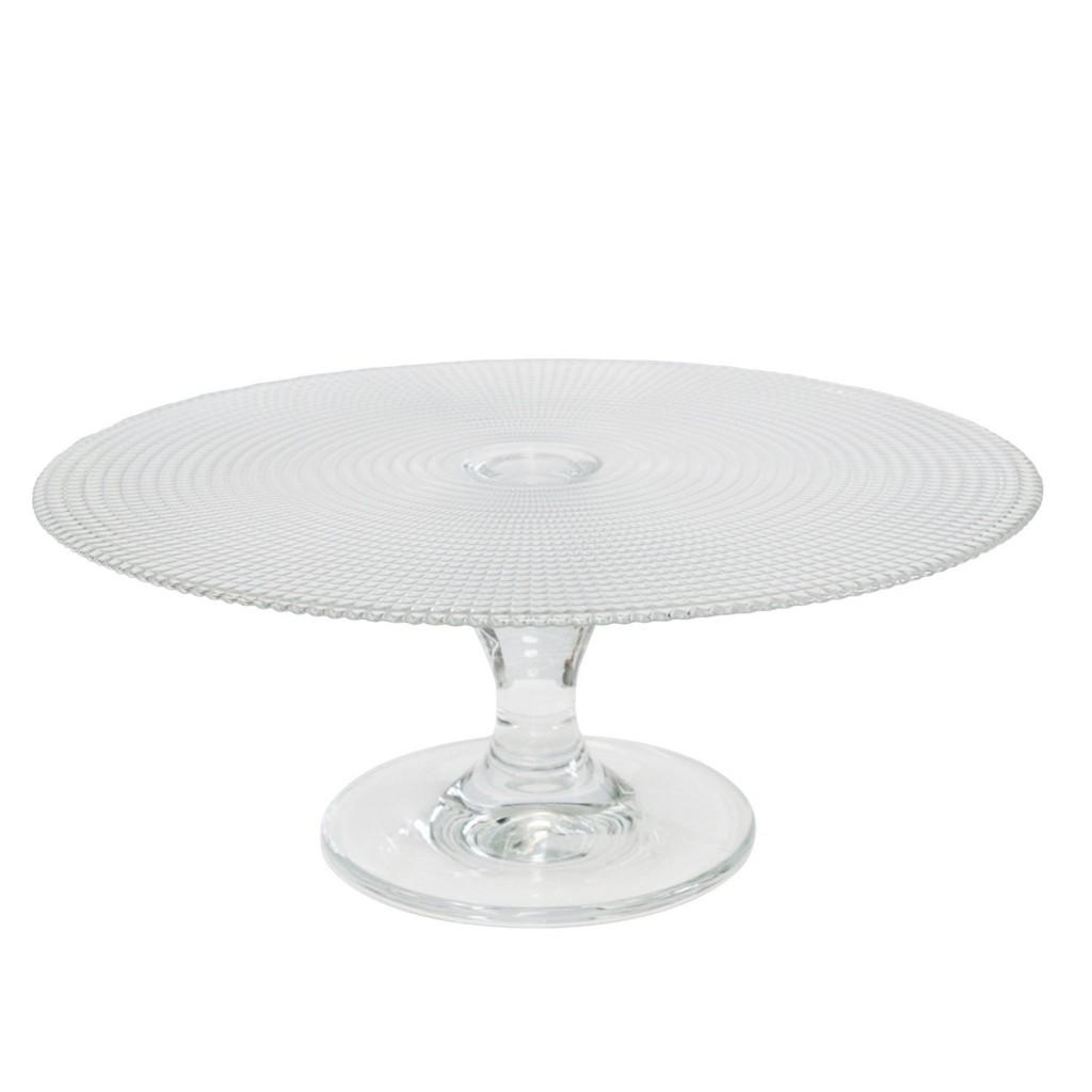 .amazon di Axentia 845146 - Alzatina per torte, in vetro, ø 28 cm