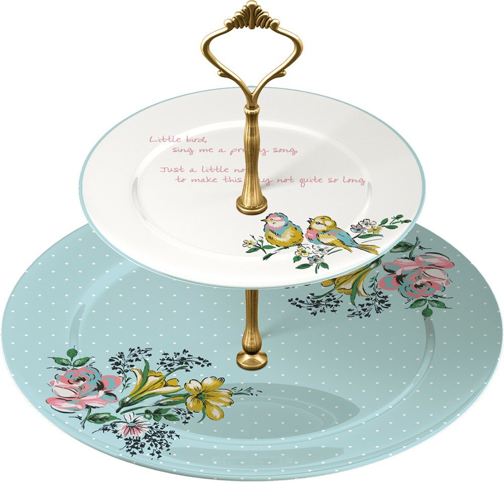 .amazon di Creative Tops - Alzatina Bird Song a 2 piani in porcellana Fine China nonna